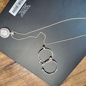 Sterling silver Mickey/Disney necklace,  earrings
